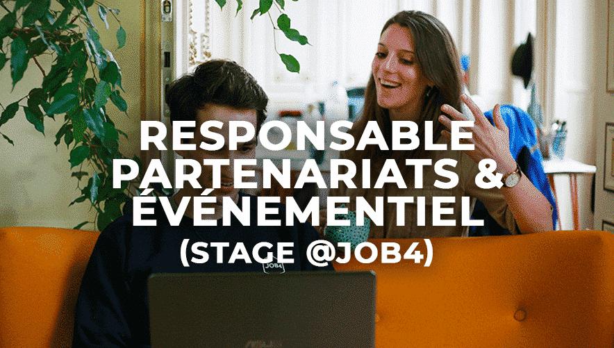 Responsable partenariat & événementiel (stage)